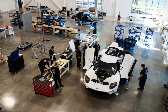 ford gt production 2018