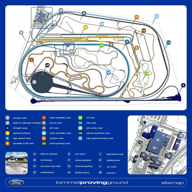 Ford Lommel Proving Ground Belgium