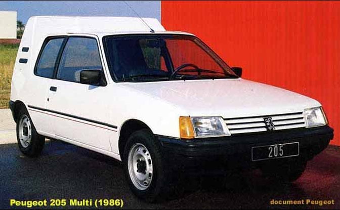 Peugeot 205 break (vergeten auto)