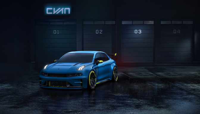 lynk co 03 cyan racing concept 2018