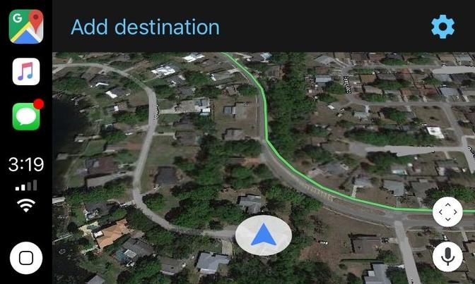 google maps apple car play