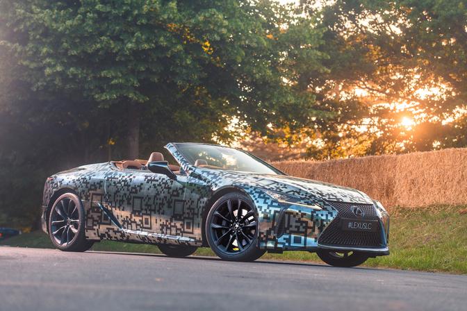lexus lc convertible teaser 2019