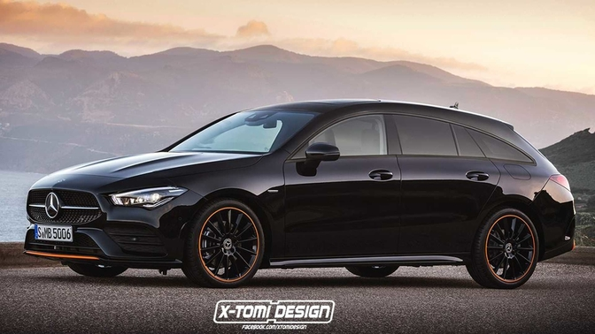 mercedes cla shooting brake render xtomi design