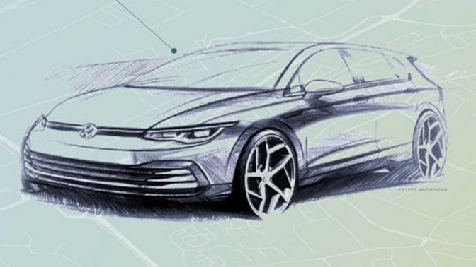 vw golf teaser 2019
