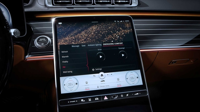 Mercedes-Benz S Klasse 2020 interieur scherm