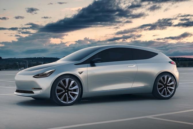 Tesla hatchback render autofans