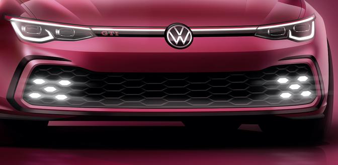 Volkswagen Golf GTI 2020 teaser Genève