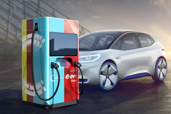 Elektrische auto powerbank wallbox EON UNIPER EV charging