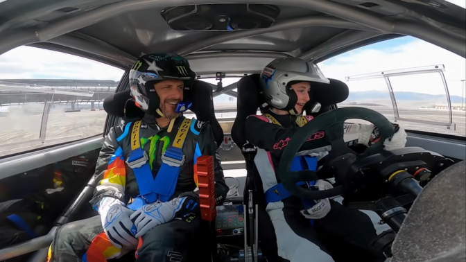 Ken Block Gymkhana lockdown dochter drift video