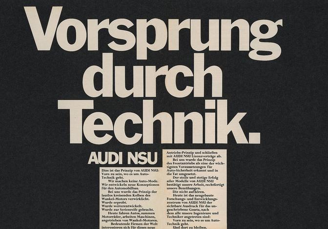 Audi : 50 ans de Vorsprung durch Technik