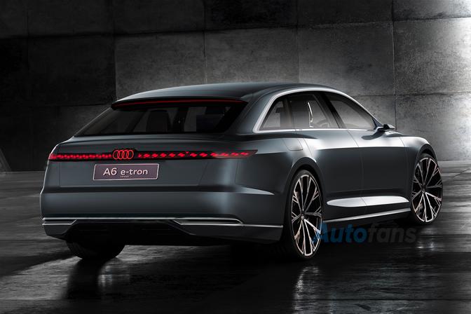 Audi A6 e-tron Avant render