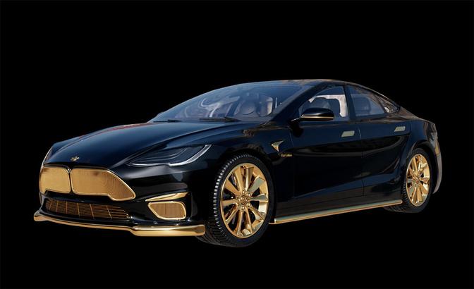 Tesla Model s Plaid Caviar  Model Excellence 24K