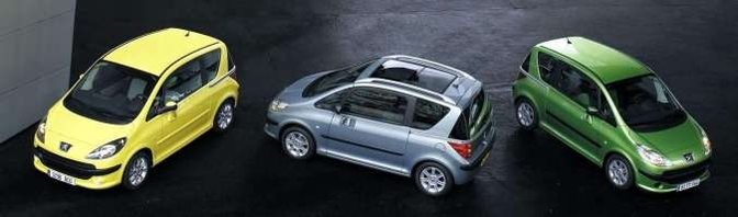 Vergeten Auto Peugeot 1007