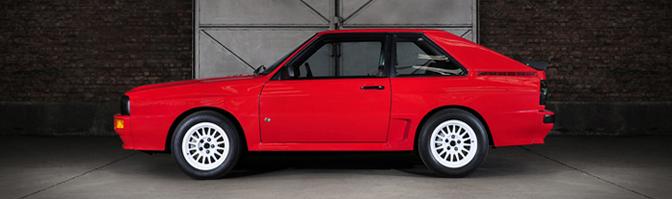 Fotoshoot Audi Quattro 1985