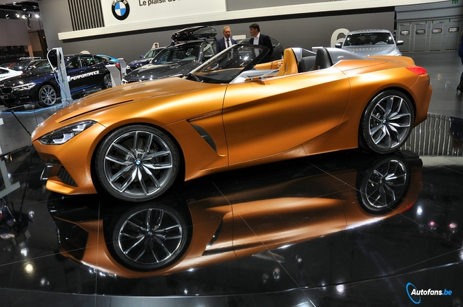 bmw z4 concept blikvanger bmw stand autosalon brussel 2018 autofans. Black Bedroom Furniture Sets. Home Design Ideas
