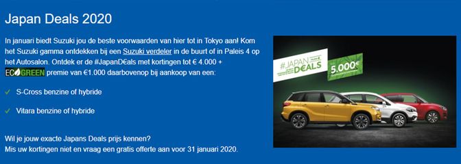 suzuki autosalon brussel japan 2020 deals promotie