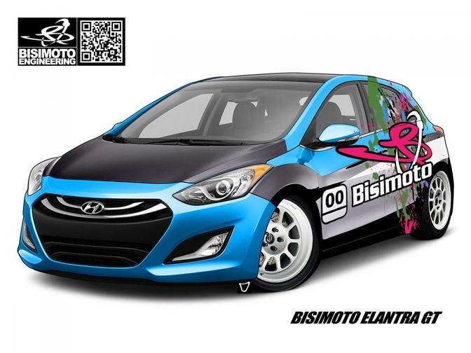 Bisimoto verviervoudigt het vermogen van de Hyundai Elantra (i30)