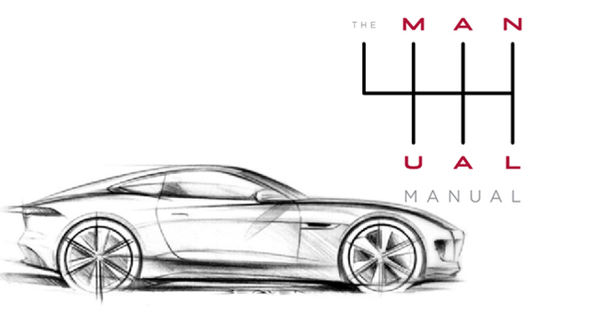 Jaguar spot met Amerikanen met 'Manual manual' voor F-Type