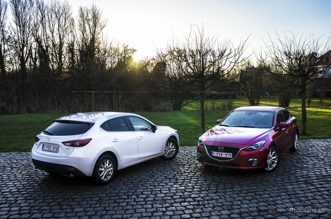 Rijtest: Mazda3 Hatch (2.2) & Sedan (2.0)