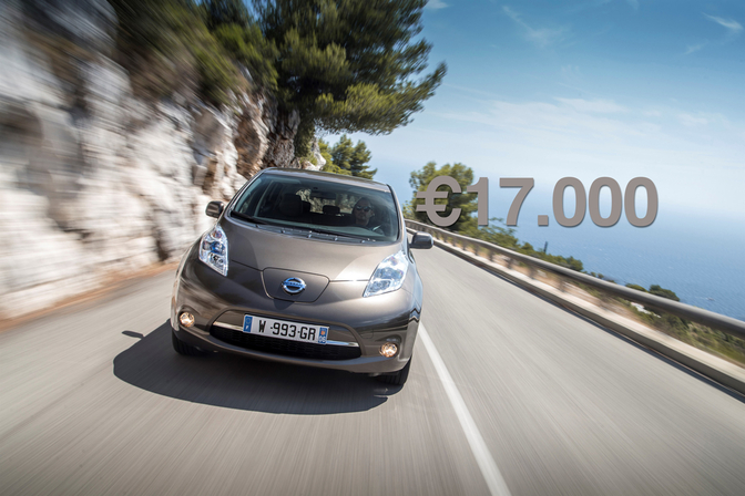 Elektrische Leaf Voor 17 000 Nissan Verdubbelt Vlaamse Premie