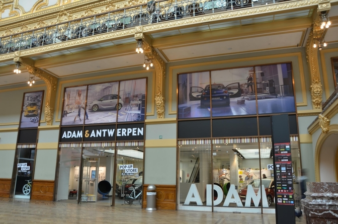 Opel opent Adam pop-up store in Antwerpen