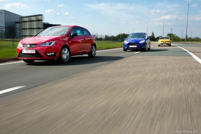 Rijtest + Video: Ford Fiesta ST, Renault Clio R.S. & Seat Ibiza Cupra