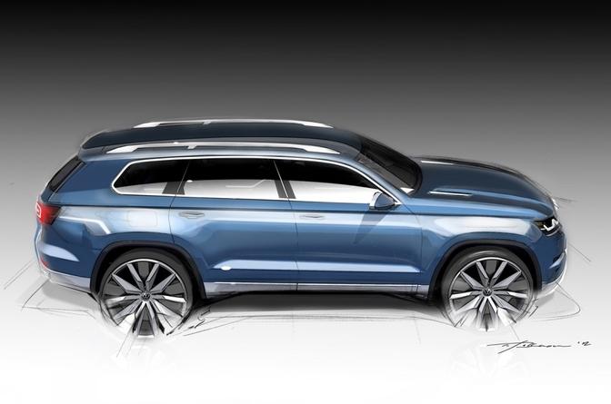 Volkswagen zevenzitter concept SUV