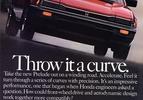 ad honda prelude red curve 1983