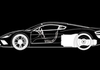 HBH aston martin supercar drawing 1