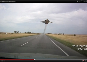 Sukhoi-24 flyby