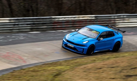 lynk co 03 cyan concept nurburgring 2019