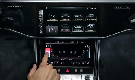Klimaatregeling touchscreen of knoppen