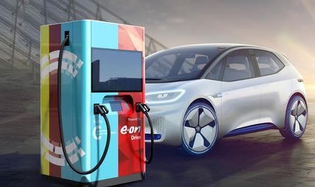 Elektrische auto powerbank wallbox EON UNIPER EV charging