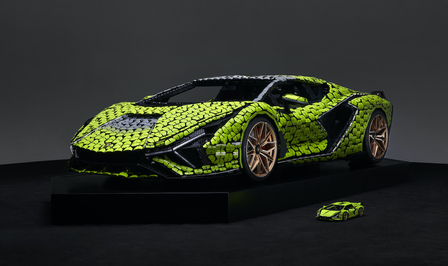 Lego Lamborghini Sian ware grootte 2021