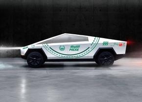 Tesla Cybertruck politie Dubai