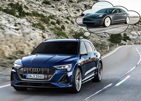 Audi Tesla voorpsrong