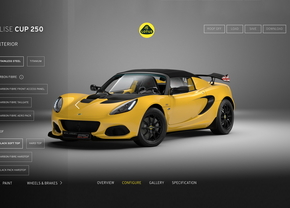 Lotus Cars Configurator Elise Evora