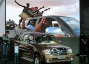 Zhongxing gebruikt Libische oorlog ter promotie van hun pickup