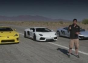 Aventador vs LFA vs MP4-12c vs Veyron Grand Sport