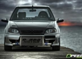 Doe nekeer zot: 600 pk in een Citroën Saxo