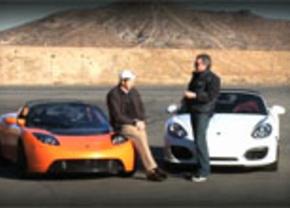 Porsche Boxster Spider vs Tesla Roadster Sport