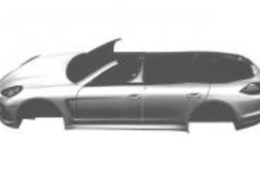 Porsche Panamera cabrio patent tekeningen