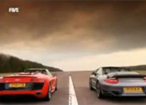 Audi R8 V10 Spyder vs Porsche 911 Turbo Cabriolet