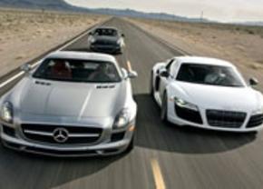 Audi R8 V10,Mercedes SLS AMG, Porsche 911 Turbo