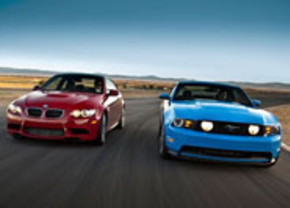BMW M3 coupe vs Mustang GT 5.0 2011