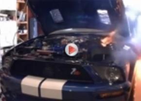 Shelby GT500 ontploft tijdens test