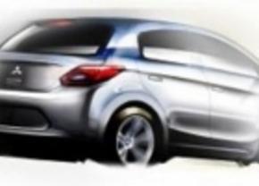 Eerste schetsen voor nieuwe Mitsubishi Colt