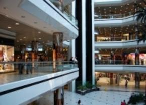 ritje door een shopping center