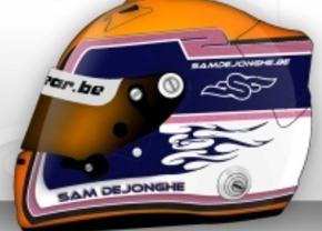 Sam Dejonghe stelt nieuwe helm voor