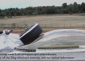 FIA test met jet fighter-kap ter bescherming van F1-piloten